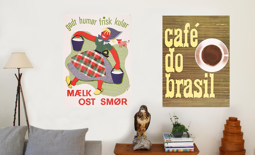 Nye mad og drikke plakater